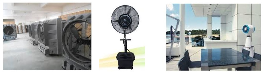 misting fans and air coolers